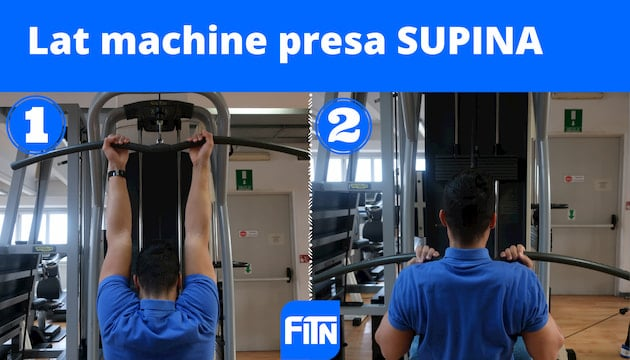 lat machine presa supina