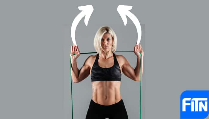 shoulder press elastici